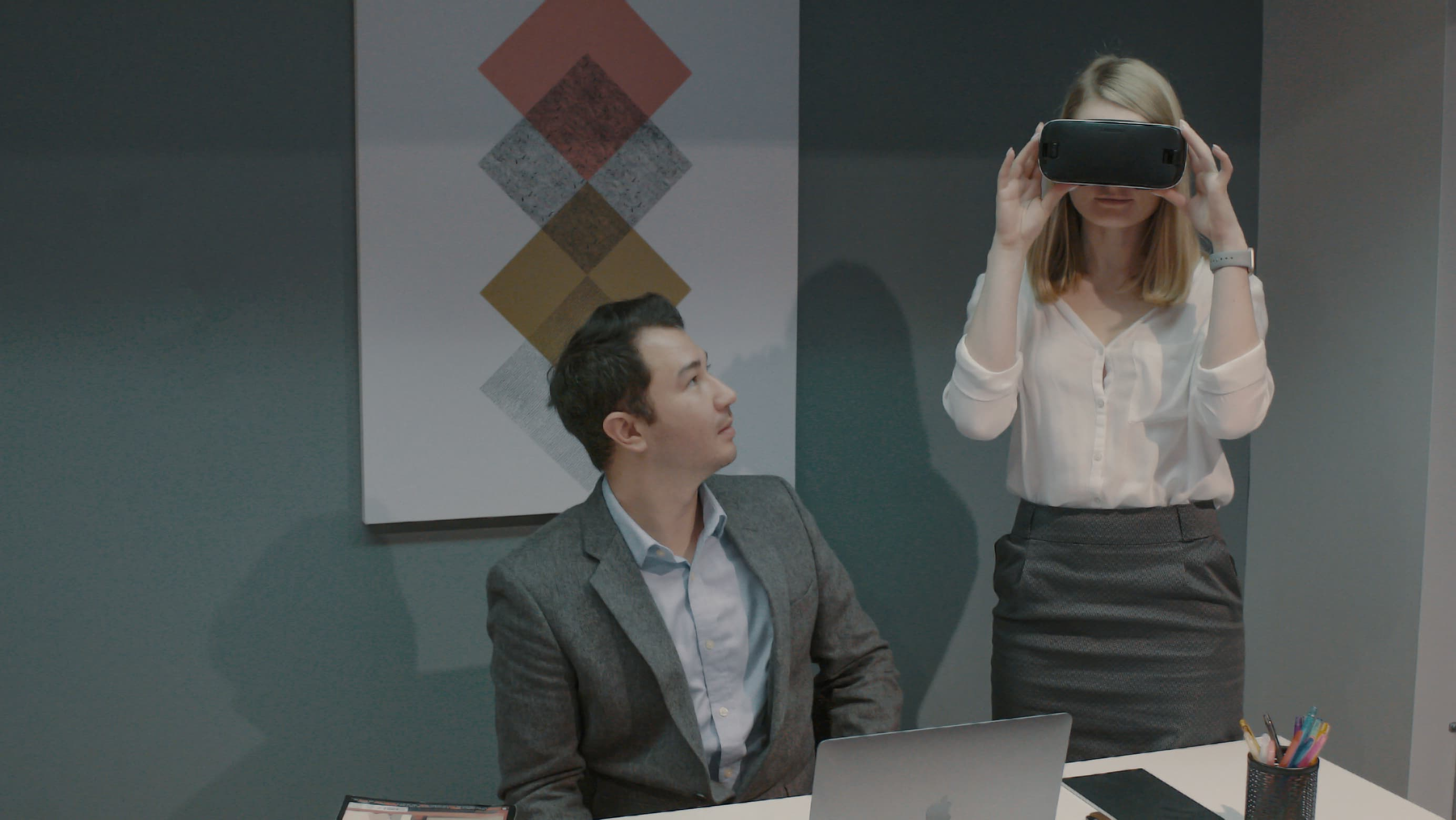 Using VR in meeting with clients