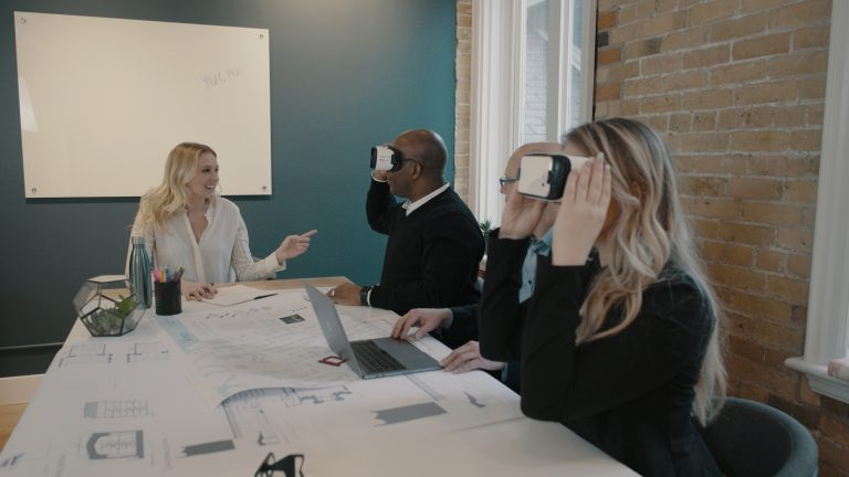 VR in architecture meeting
